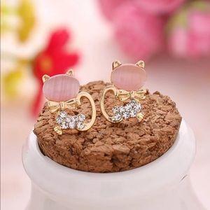 New Kitty Cat Stud Earrings